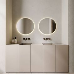 A beautiful minimal design with the most calming and serene palette. Milan Apartment by & Via Bathroom Red, Bathroom Interior, Home Interior, Modern Bathroom, Small Bathroom, Bathroom Mirrors, Remodel Bathroom, Design Bathroom, Washroom