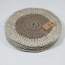Podkładka bawełniana beżowa ⌀ 37 cm