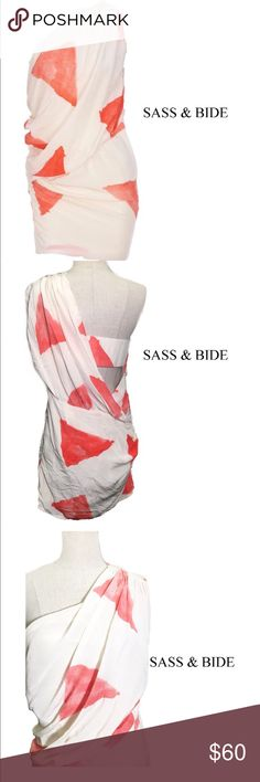 Designer Sass & Bide 100% Silk Size 6 sass & bide is an australian designer label, dedicated to the strong, the obscure & the beautiful.  This dress is new without tags. 100% Silk. Size 6 Euro42 sass & bide Dresses Midi