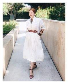 "Gefällt 515 Mal, 9 Kommentare - Jessica Parker (@noaccountingfortaste) auf Instagram: ""White year round? Yes please. #1940s dress; #1950s sweater by Sally Dee; belt from @zest.vintage //…"""