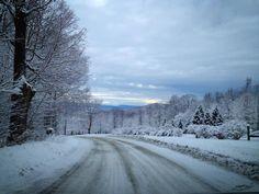 A snowy ride - (photo by Lynn Monty - Burlington Free Press)
