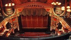 The Hackney Empire Theatre which has been rescued from ruin and is now in glorious gold and red again !
