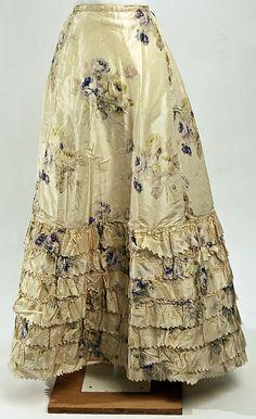 "Petticoat: early 1900's, American, silk.    Marking: [label] ""B. Altman & Co., Paris, New York"""