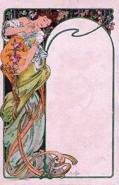 Art Nouveau Frame ~ Alphonse Mucha, 1904