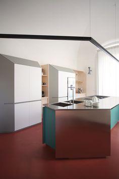 Interior Decorating, Interior Design, Bespoke Kitchens, Red Interiors, Grand Tour, Open Kitchen, Bari, Kitchen Design, New Homes