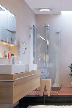 Parfois sombre, la salle de bains ? Avec un éclairage déco et moderne, illuminez votre miroir, votre coiffeuse ou même votre douche avec style ! Retrouvez nos inspirations.