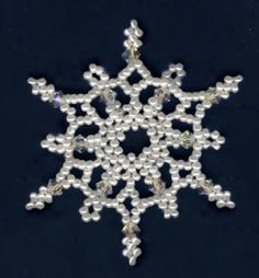 Free Bead Patterns and Ideas : Snowflakes Falling Ornament Pattern - Free pattern
