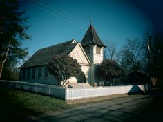 A picture of an old church taken at Old Washington, Arkansas
