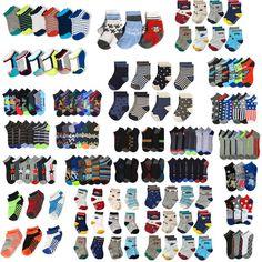 12 Pairs Kid/'s 6-8 Crew Uniform School Socks Navy Gray Brown Boy/'s Girl/'s Junior