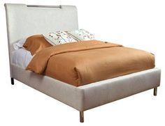 Sucher Linen Platform Bed, Oatmeal, OKL (2,500.00) King