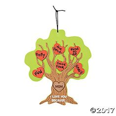 Set of 12 LARGE Mothers Day Tree Sign Craft Project Kits I Love You Because >>> Details can be found by clicking on the image.