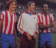 Luis Aragonés con Leivinha y Luiz Pereira