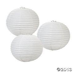 White Glitter Lanterns