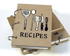Blank Recipe Book 4 in x 6 in Size No1 by BethBee on Etsy, $15.95