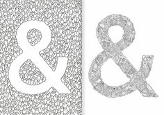 The Ampersand Colouring Book by Tim Easley by timeasley on Etsy