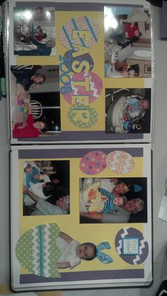 Easter scrapbook page idea