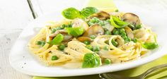 Spaghetti mit Erbsen-Sahne-Sauce / Rezepte / Startseite - Lidl Kochen