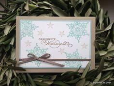 Weihnachtskarte, Flüsterweiß, Jade, Espresso, Savanne, Gesegnete Weihnachten, Schneeflocken