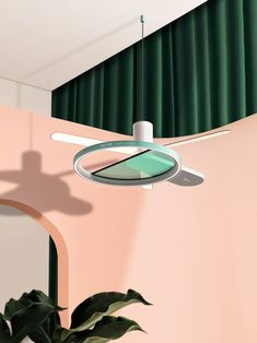The styling says Sight Unseen, the technology says Dyson. The Fan Tone concept by Korean designer Hyojeong Lee combines air circulation, HEPA filtration, and air monitoring in a singular ceiling fan design.