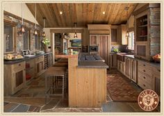 LOOOOVE This Kitchen!!  Would go perfect in my future Tennessee Mountain Home lol.