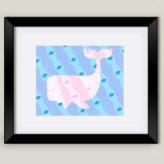 What A Whale Framed Art Print by bunhuggerdesign on BoomBoomPrints