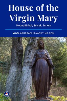 Everything you need to know about visiting the House of the Virgin Mary in Selçuk, Turkey in our visitor's guide and photo gallery. Travel Hacks, Travel Tips, Cruise Tips, Virgin Mary, Garden Sculpture, Need To Know, Turkey, Gallery, House