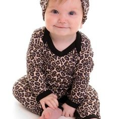 Rockabilly Baby Clothes – Leopard Print Baby Clothes – Leopard Baby T-shirt/Trousers/Hat/Booties (0-3 months)