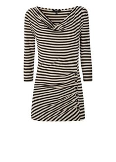 Long Sleeved Button Top Stripe great with leggings and chelsea boots #MatalanMostwanted