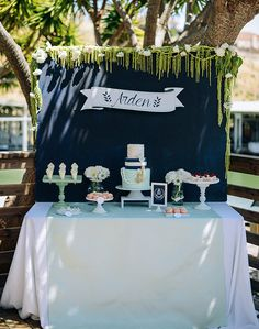 Arden's nautical 7th birthday by Honeycomb Events | Kids Birthday Parties | 100 Layer Cakelet