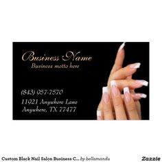 122 nail salon business card pink taupe nail technician business custom black nail salon business cards accmission Images