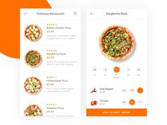 Firehouse Pizza Restaurant designed by Rish. Connect with them on Dribbble; Ui Design Mobile, Mobile Application Design, App Ui Design, Food Design, Interface Design, Layout Design, Design Design, Graphic Design, Restaurant App