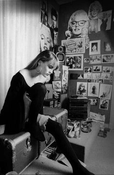 Vanessa Paradis at her bedroom at late 80's