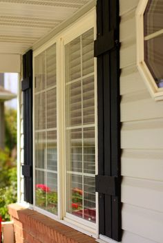 how to make wood shutters for your house - Petit Elefant-!this would replace our old shutter due to new windows.