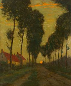 """""""Tree-Lined Path,"""" Charles Warren Eaton, 1902, oil on canvas, 36 x 30"""", private collection."""