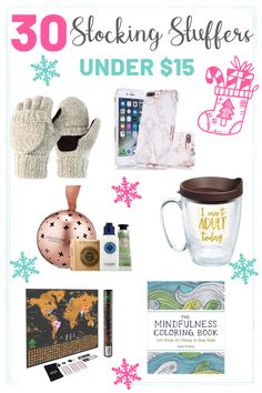 We've rounded up 30 Cute Stocking Stuffers Under $15 that everyone will love #stockingstuffers #holidaygifts