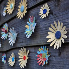 Patterned daisy flower 3d wall art decoration by 100percentdelicate, via Flickr