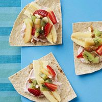 These fruit quesadillas make a healthy after school snack.