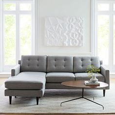 Shop drake from west elm. Find a wide selection of furniture and decor options that will suit your tastes, including a variety of drake. 3 Piece Sectional, Modern Sectional, Leather Sectional, Sleeper Sectional, Living Pequeños, My Living Room, Tiny Living, Modern Living, Living Area