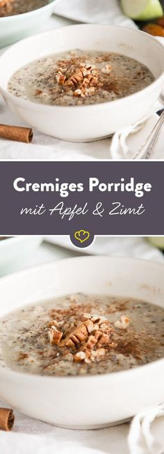 Datteln, Chia-Samen, Pecannüsse sowi… Apple and cinnamon? the dream team par excellence. Dates, chia seeds, pecans and almond milk and mus? Your power booster for the day. Apple Recipes, Fish Recipes, Vegan Recipes, Paleo Dessert, Paleo Breakfast, Breakfast Recipes, Desayuno Paleo, Tasty, Yummy Food