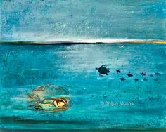 "New work -""Little Mermaid Dream"" oil on canvas, 16x20"" © Shijun Munns 2014.  #Art #OilPaintings #Mermaid #mermaidpainting #mermaidoilpainting #mermaidart #artwork #artists #LittleMermaid #ShijunArt #ShijunMunns www.shijunart.com"