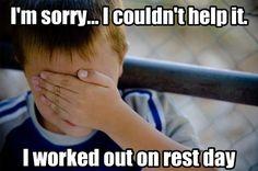 Lol. Resting is hard!