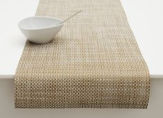 Basketweave Runner Placemat in White & Gold design by Chilewich