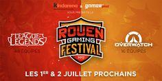 Rouen Gaming Festival 2017 - OverWatch & League of Legends - Le Kindarena & Gamer's Production sont heureux de vous annoncer l'arrivée d'un nouvel événement dans le paysage e-sportif normand, le Rouen Gaming Festival. Au programme, deux compétitions ...