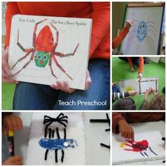 All throughout the fall, we have so many different kinds of interesting creatures come and visit us at preschool. Spiders, stick bugs, praying mantis, grass hoppers, and more. We seem to find them everywhere and each new creature inspires a whole day or more of fun in our classroom...