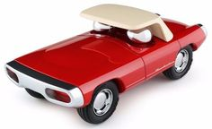 """Racers start your engines. Your little ones will dream of the open road with the timeless and sleak race car from Playforever. The race car has no removeable parts and is very durable. 11 L X 6.5"""" Bre"""