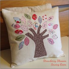 A handmade personalised family tree cushion for a special birthday, anniversary or new home. Visit our website to see more!