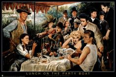 George Bungarda Lunch on the Party Boat Art Print Poster Poster