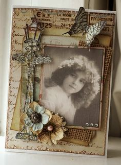 #DCWV #card #vintage #scrapbooking designed with the Primrose Stack