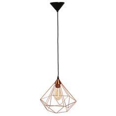 Lámpara de techo Tarbes cobre