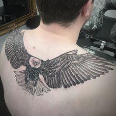 #tattoo finished #eagle #wings on #back #mattroetattoo